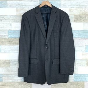 Pronto Uomo Windowpane Sport Coat Brown